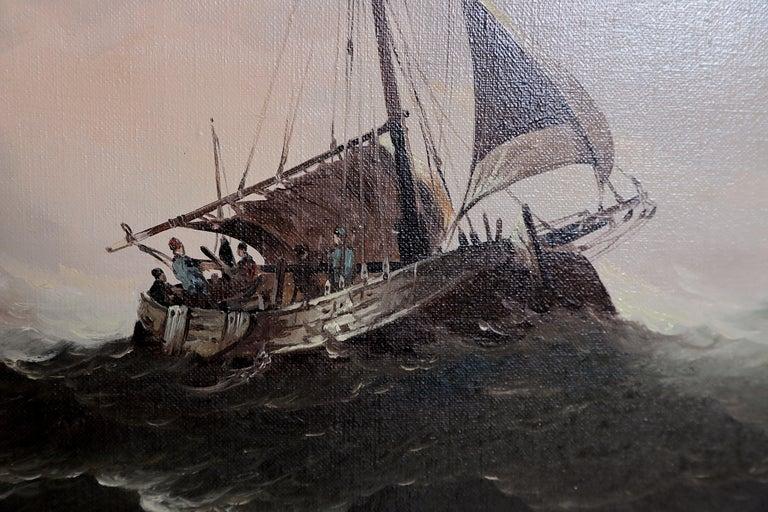 Dutch Colonial Nautical / Maritime Painting by Jan Hendrik Jacob Jasper For Sale