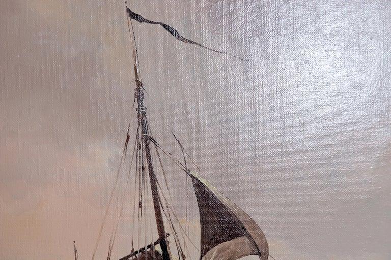 Dutch Nautical / Maritime Painting by Jan Hendrik Jacob Jasper For Sale