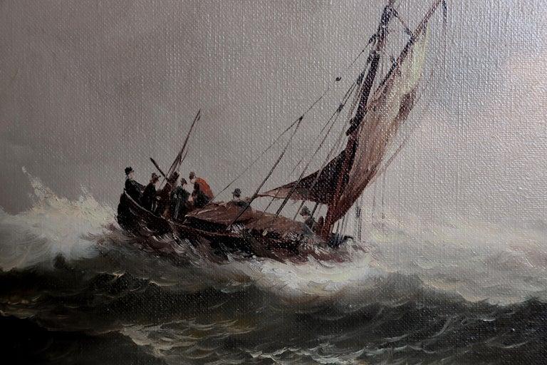 Hand-Painted Nautical / Maritime Painting by Jan Hendrik Jacob Jasper For Sale