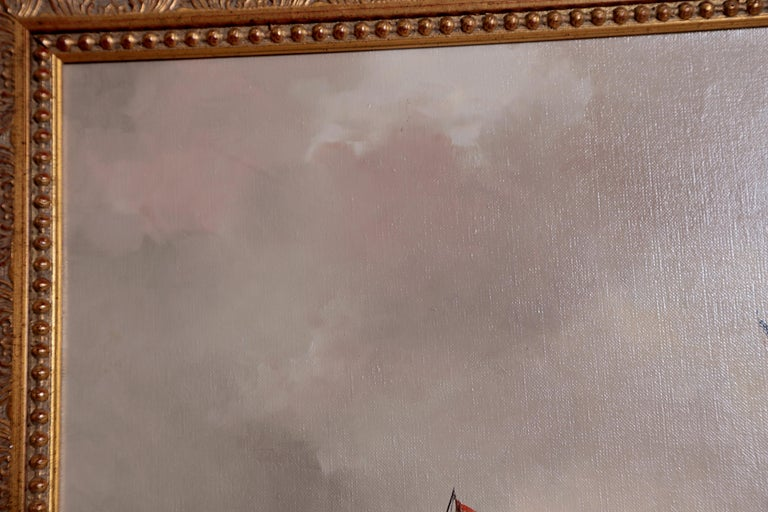 Nautical / Maritime Painting by Jan Hendrik Jacob Jasper In Good Condition For Sale In Dallas, TX