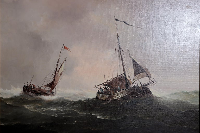 20th Century Nautical / Maritime Painting by Jan Hendrik Jacob Jasper For Sale