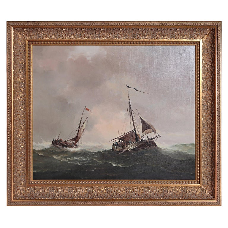 Nautical / Maritime Painting by Jan Hendrik Jacob Jasper For Sale