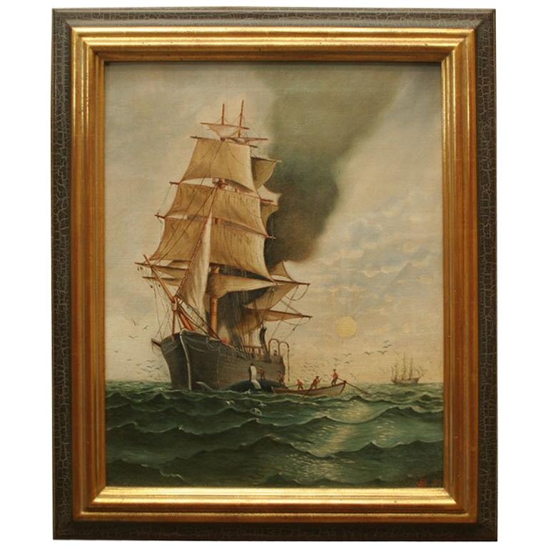 Nautical Painting:  Sailing Ship For Sale