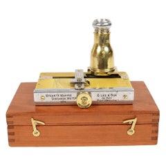Nautical Antique Rangefinder signed Stuart's Marine Distance Meter 1890 circa