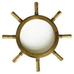 Nautical Ships Wheel Desk Magnifying Glass