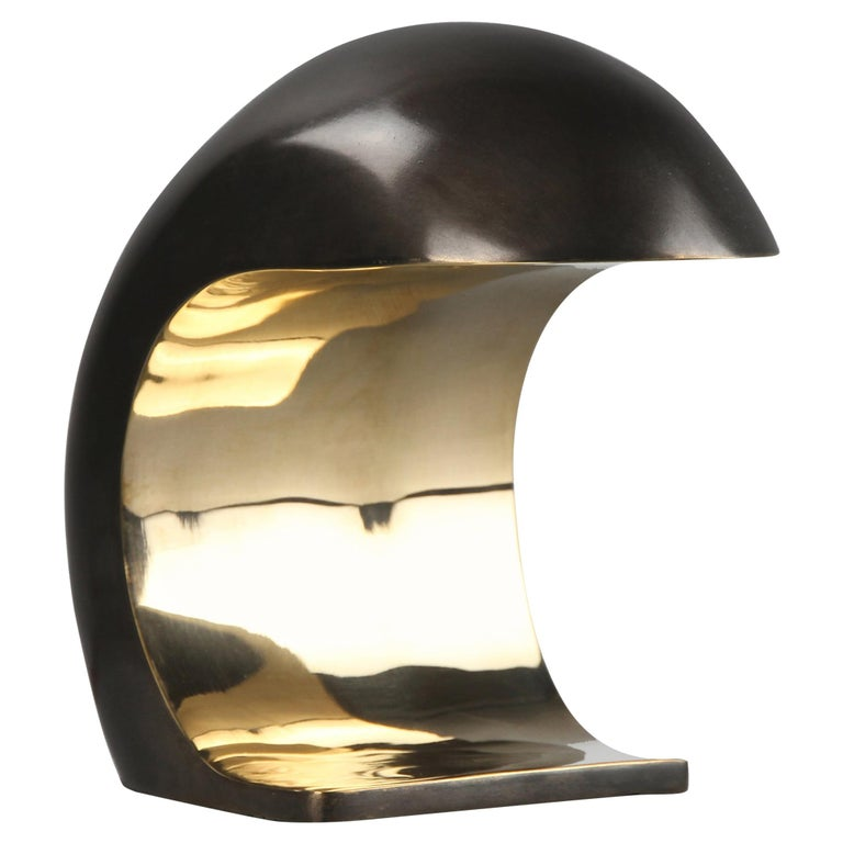 Nautilus Desk Lamp in Bronze, 2020, Signed by Christopher Kreiling For Sale