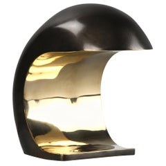 Nautilus Desk Lamp in Cast Bronze with Touch Dimmer, Christopher Kreiling Studio