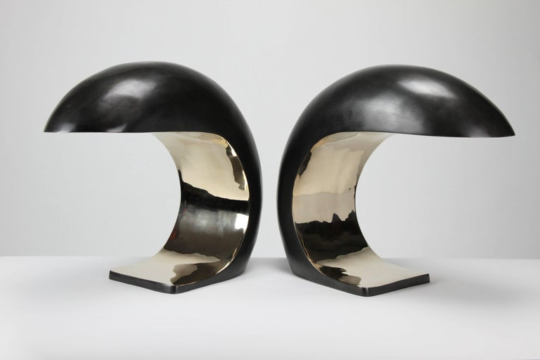Polished NAUTILUS STUDY TABLE LAMP by Christopher Kreiling For Sale
