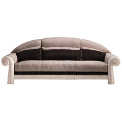 21st Century Nautilus Sofa- wood and fabric