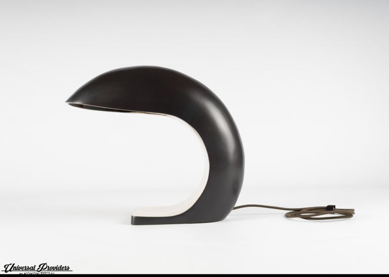 American Nautilus Study Table Lamp in Cast Bronze, Signed, 2020 by Christopher Kreiling For Sale