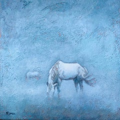 Dreaming of Wild Horses, Abstract Painting