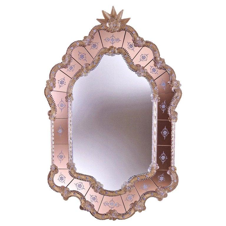 Navagero Murano Glass Mirror For Sale