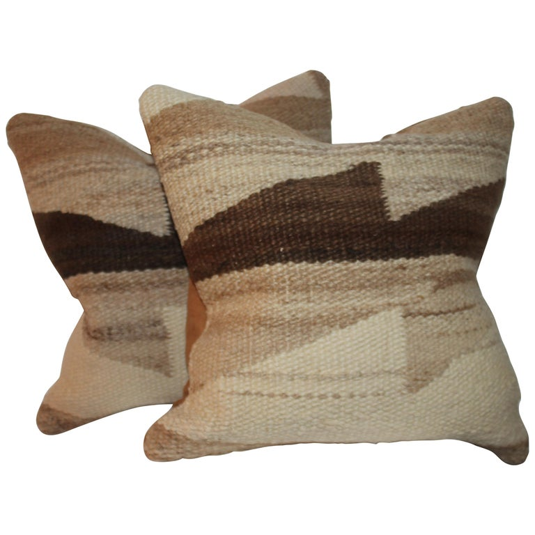 Navaho Weaving Pillows, Pair For Sale