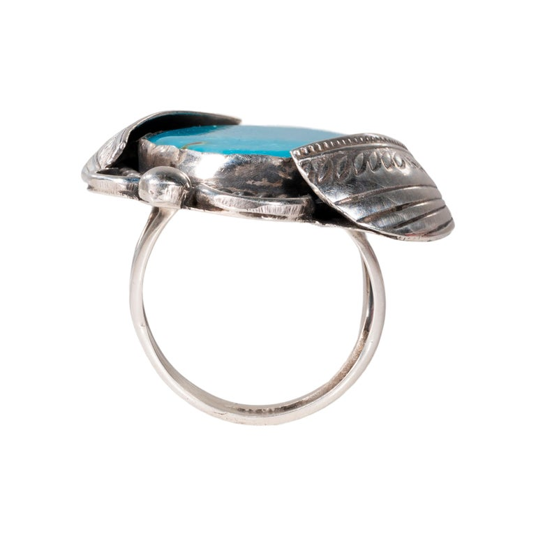 Native American Navajo Bisbee Turquoise Ring For Sale