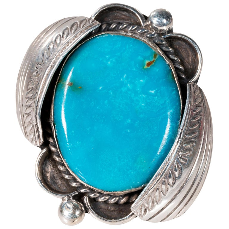Navajo Bisbee Turquoise Ring For Sale