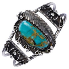 Navajo Cerrillos Turquoise and Sterling Bracelet