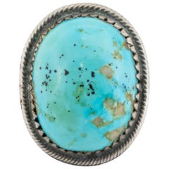 Navajo Cerrillos Turquoise and Sterling Ring