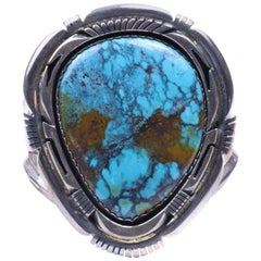 Navajo Damele Mine Turquoise and Sterling Bracelet