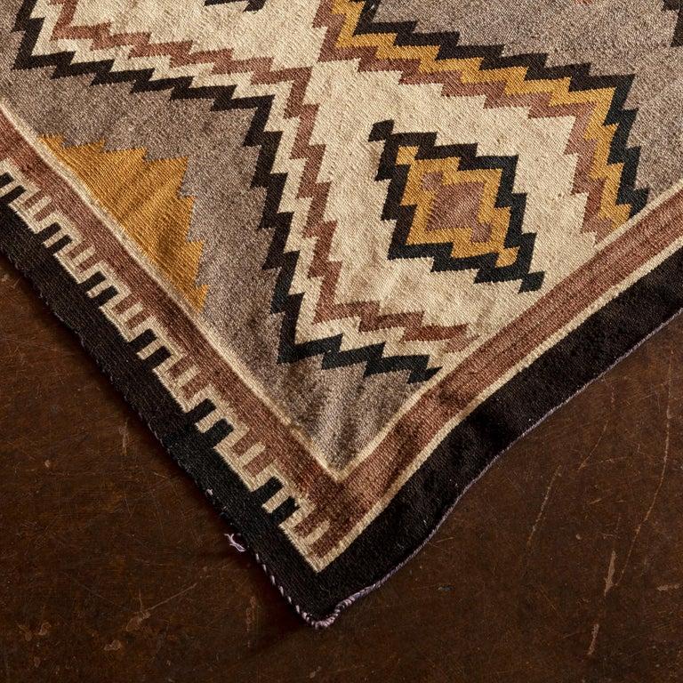 North American Navajo Eye Dazzler Textile, 1940s For Sale