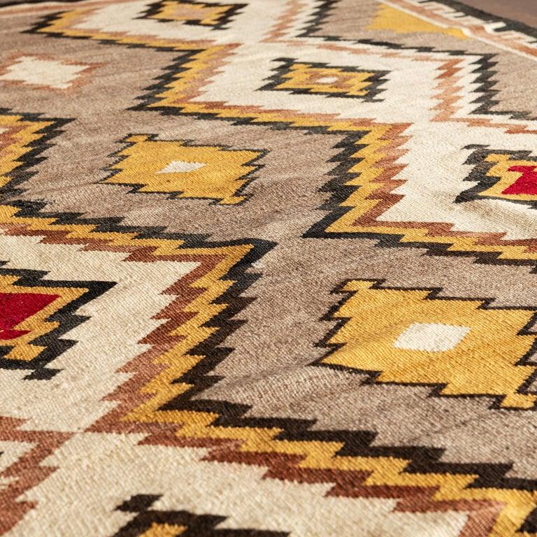 Mid-20th Century Navajo Eye Dazzler Textile, 1940s For Sale