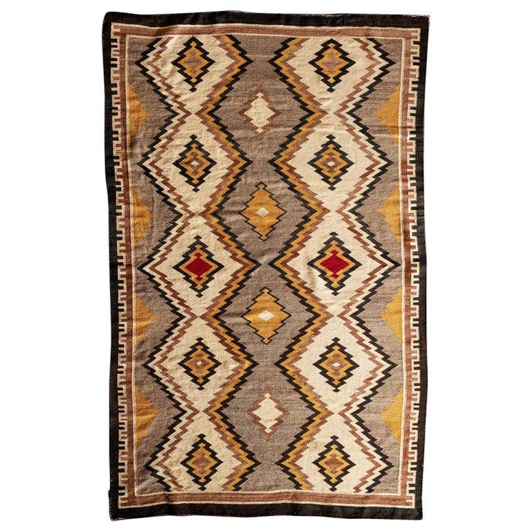 Navajo Eye Dazzler Textile, 1940s For Sale