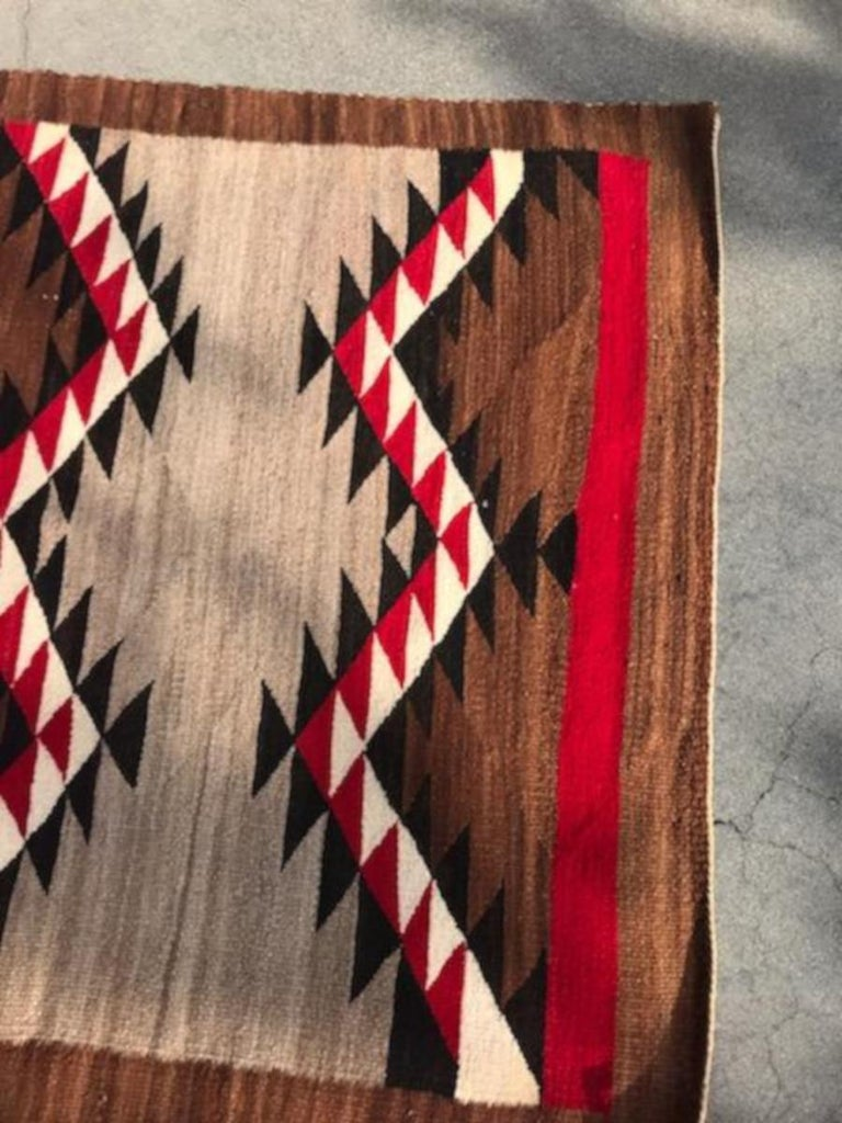 American Navajo  Indian Eye Dazzler Weaving For Sale