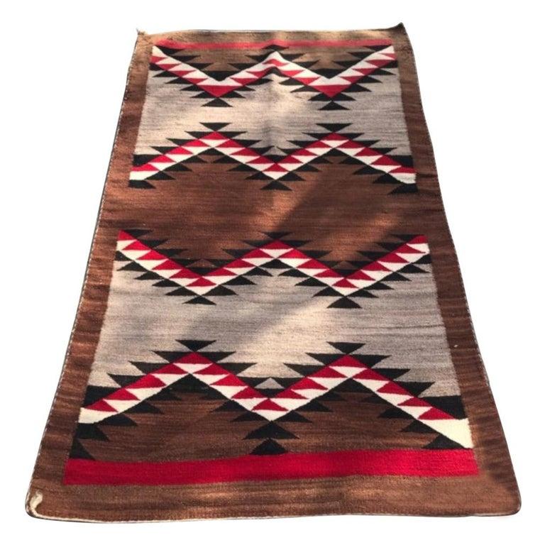 Navajo  Indian Eye Dazzler Weaving For Sale