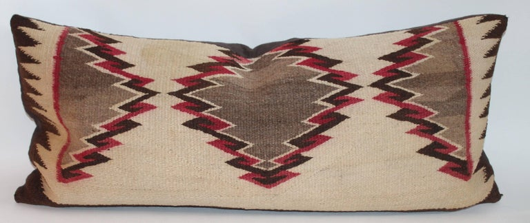 American Navajo Eye Dazzler Weaving Pillows / Collection of Three For Sale