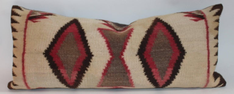 Hand-Woven Navajo Eye Dazzler Weaving Pillows / Collection of Three For Sale