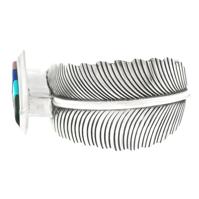 Navajo Feather Motif Cuff For Sale 1