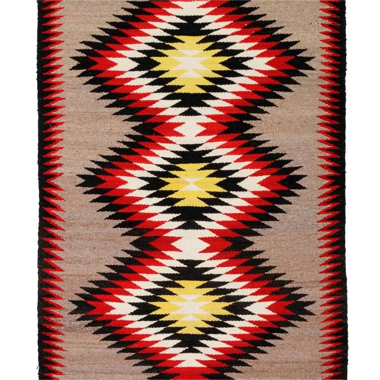 Navajo Ganado Native American Weaving In Good Condition For Sale In Coeur d'Alene, ID
