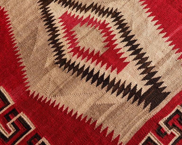 Hand-Woven Navajo Ganado Textile, 1920s For Sale