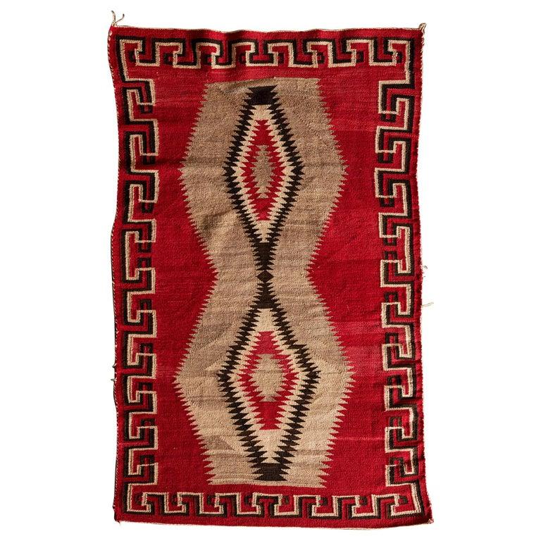 Navajo Ganado Textile, 1920s For Sale