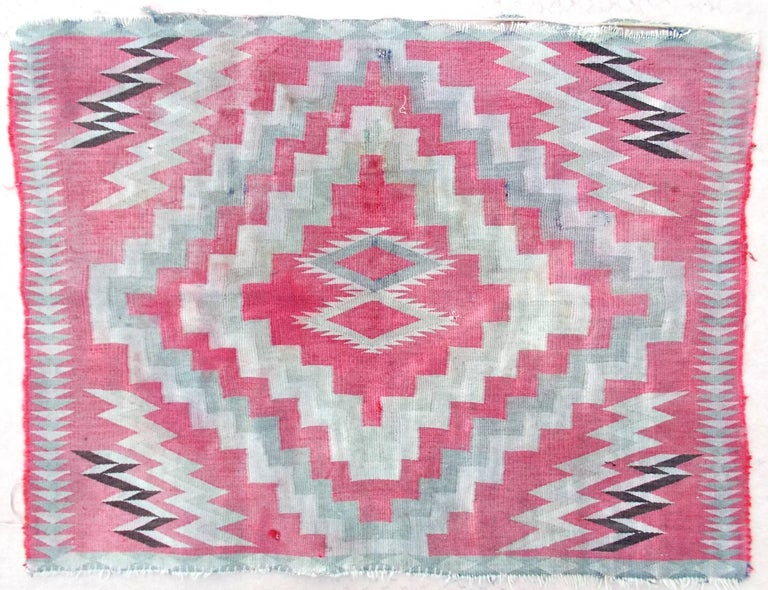 Navajo Germantown Saddle Blanket In Good Condition For Sale In Sharon, CT