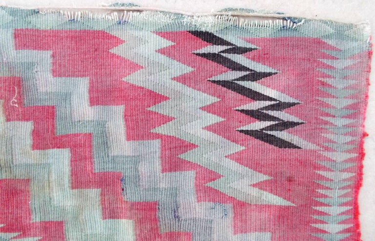 19th Century Navajo Germantown Saddle Blanket For Sale