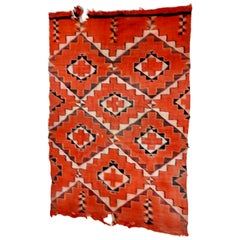Navajo Handwoven Transitional Textile Early 20th Century