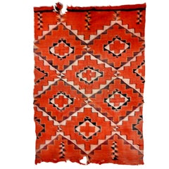 Navajo Handwoven Transitional Textile, Early 20th Century