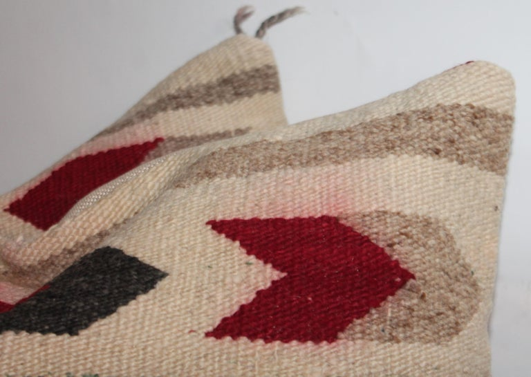 Adirondack Navajo Indian Geometric Pair of Pillows For Sale