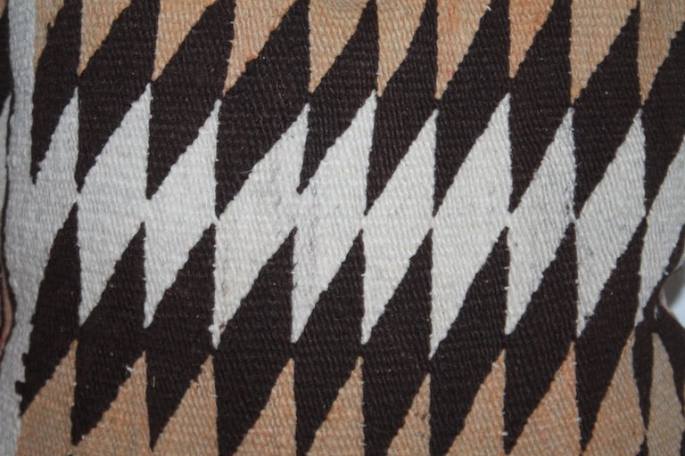 Hand-Crafted Navajo Indian Geometric Weaving Pillows, Pair For Sale