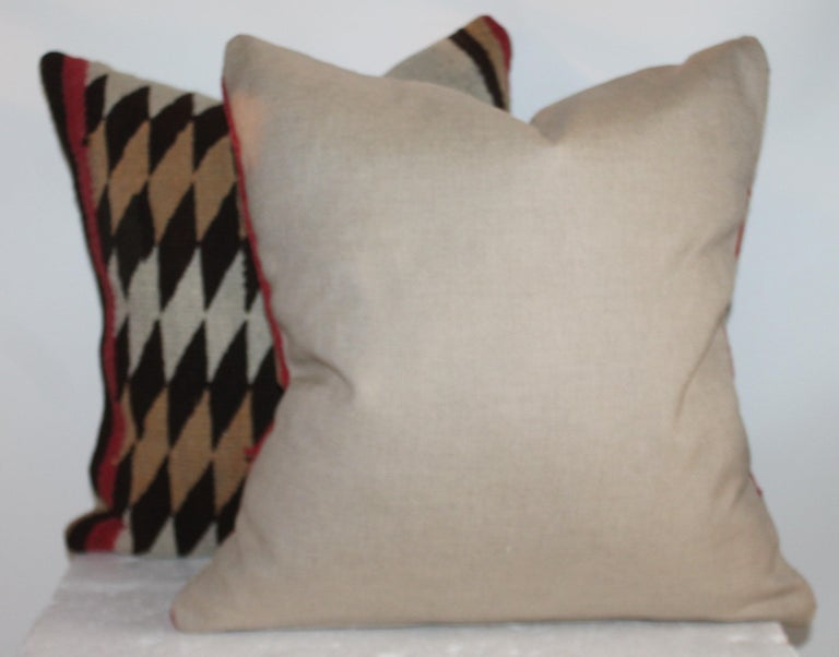 Navajo Indian Geometric Weaving Pillows, Pair In Good Condition For Sale In Los Angeles, CA