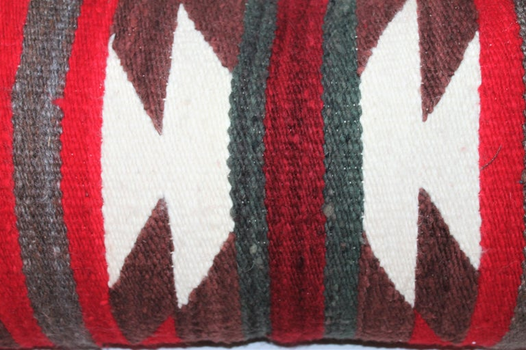 Hand-Woven Navajo Indian Saddle Blanket Pillows For Sale