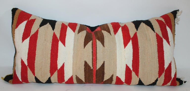 Navajo Indian Saddle Blanket Pillows In Good Condition For Sale In Los Angeles, CA