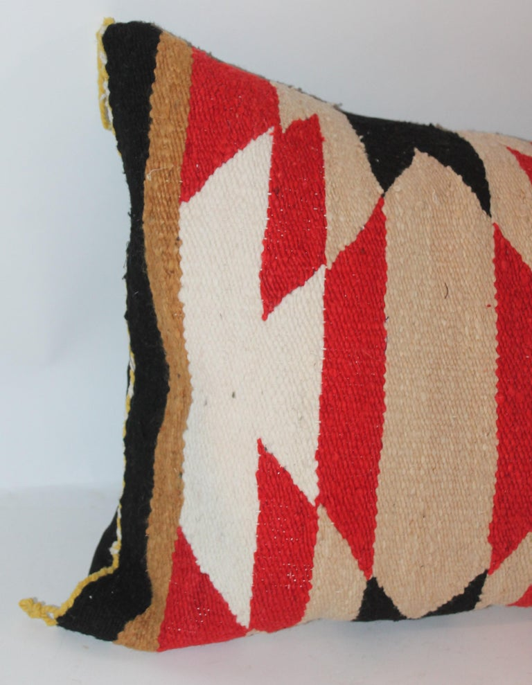20th Century Navajo Indian Saddle Blanket Pillows For Sale
