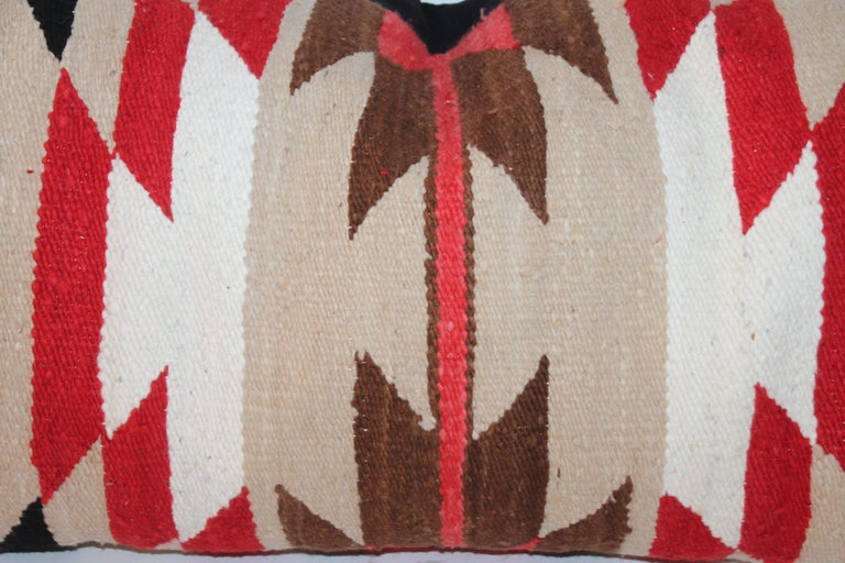 Wool Navajo Indian Saddle Blanket Pillows For Sale
