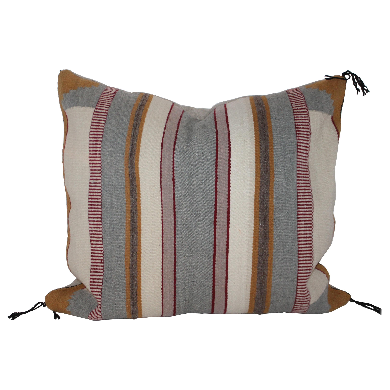 Navajo Indian Saddle Blanket Weaving Pillow