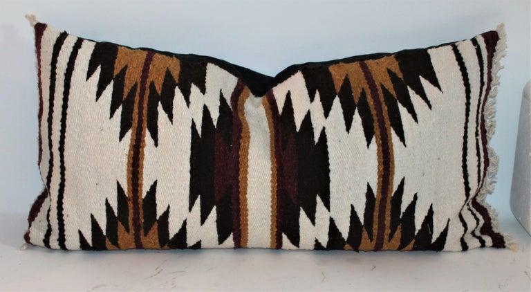 Adirondack Navajo Indian Saddle Weaving Pillows, 2 For Sale