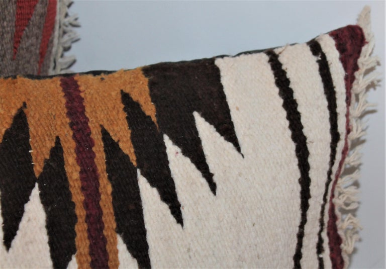 Navajo Indian Saddle Weaving Pillows, 2 In Good Condition For Sale In Los Angeles, CA