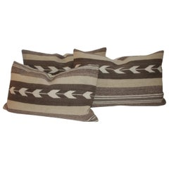 Navajo Indian Weaving Arrows Pattern Pillows, Collection of Three