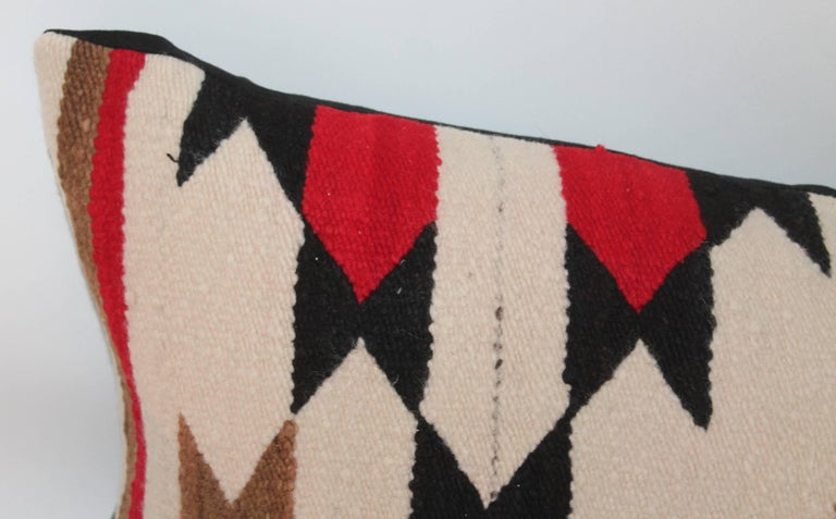 Adirondack Navajo Indian Weaving Bolster Pillow For Sale