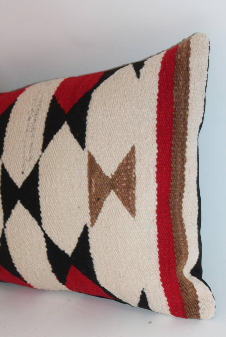 American Navajo Indian Weaving Bolster Pillow For Sale
